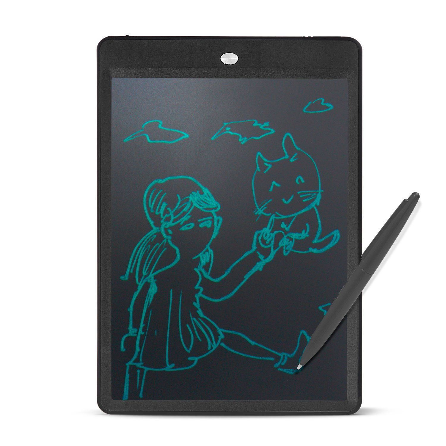 Kids LCD Writing Tablet, 10 Inch Portable Save Electronic Color Graphic eWriter, Handwriting Drawing Board Tablet Pad Note Memo, Office Bulletin Board with Lock & Stylus (Black)