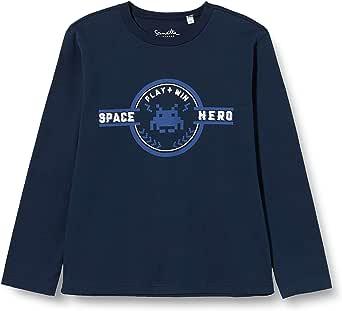 Sanetta Shirt Shadow Blue Conjunto de Playeras para bebés y niños pequeños