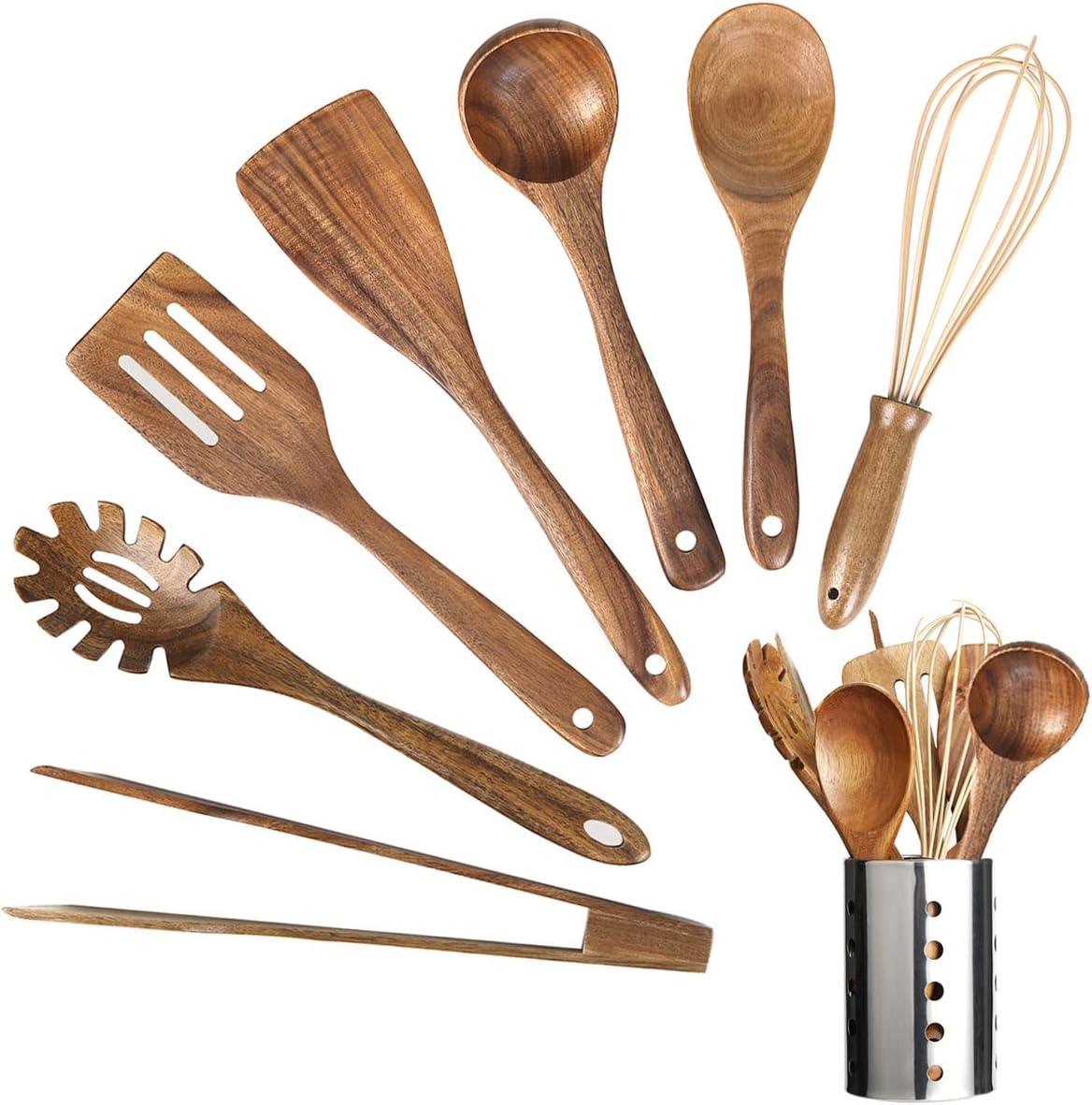 handmade wood spoon Set of spoons spoon handcrafted in pear wood . wooden spoon kitchen utensil wooden spoons