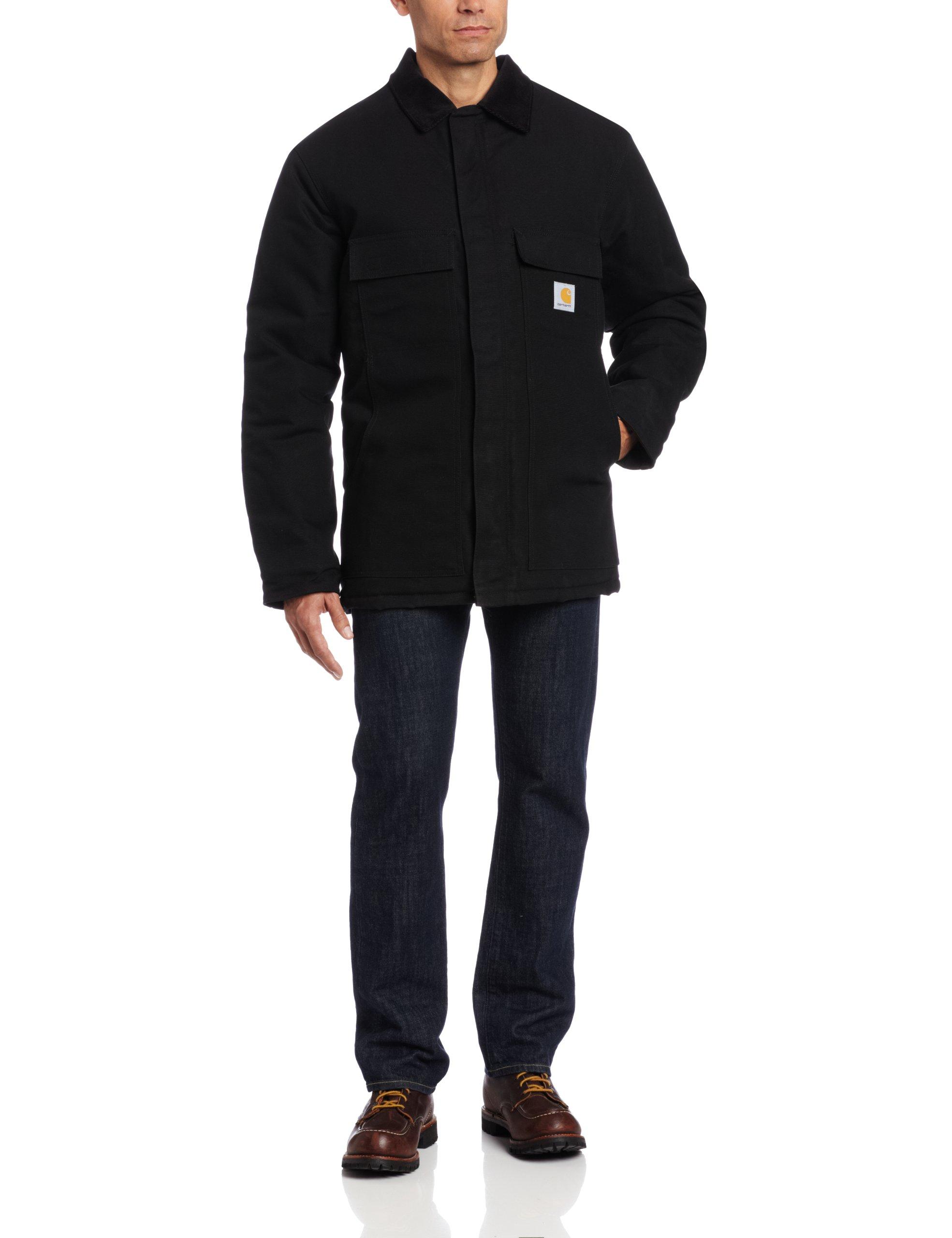 Carhartt Men's Big & Tall Arctic Quilt Lined Duck Traditional Coat C003,Black,XX-Large Tall