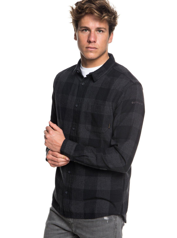 TALLA 2XL. Quiksilver Motherfly–Camisa de Manga Larga para Hombre