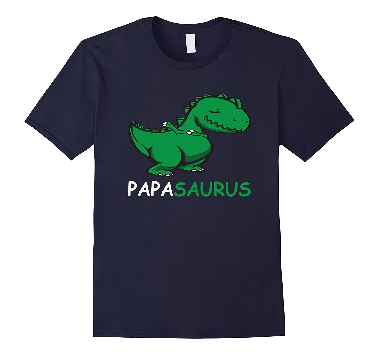 4f64cf62 Fathers Day Papasaurus Dabbing T-Rex Papa Dinosaur T-Shirt-PL ...