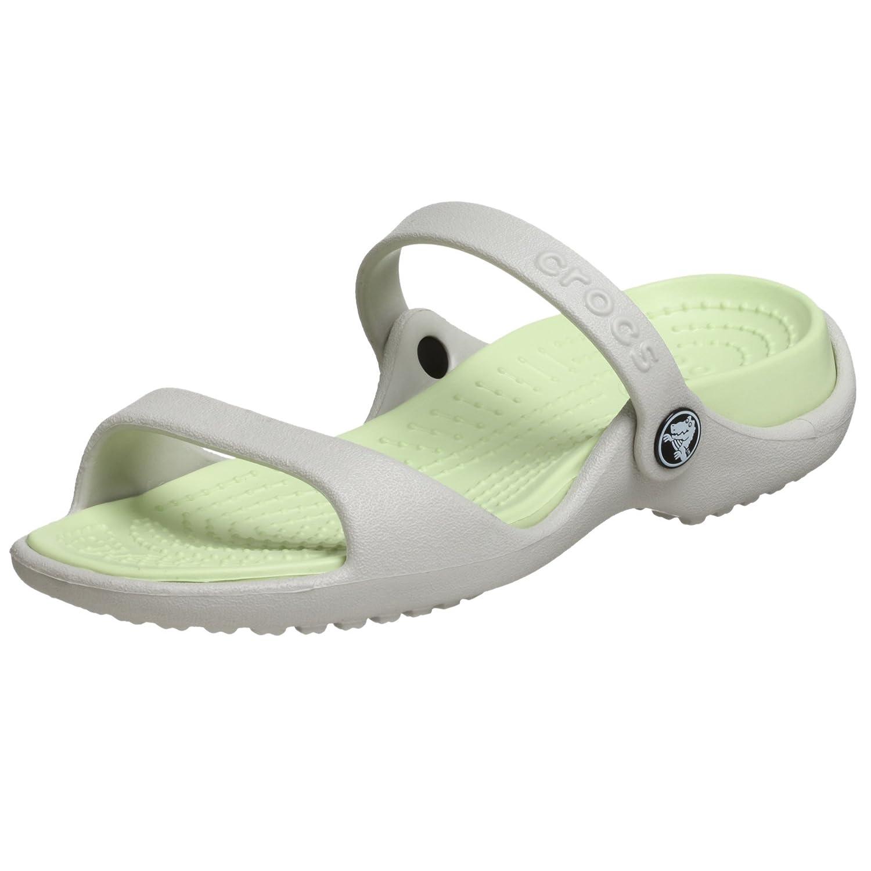 MultiCouleure - Blanc (Pearl blanc Celery) Crocs Cleo, Sandales Bout Ouvert Femme