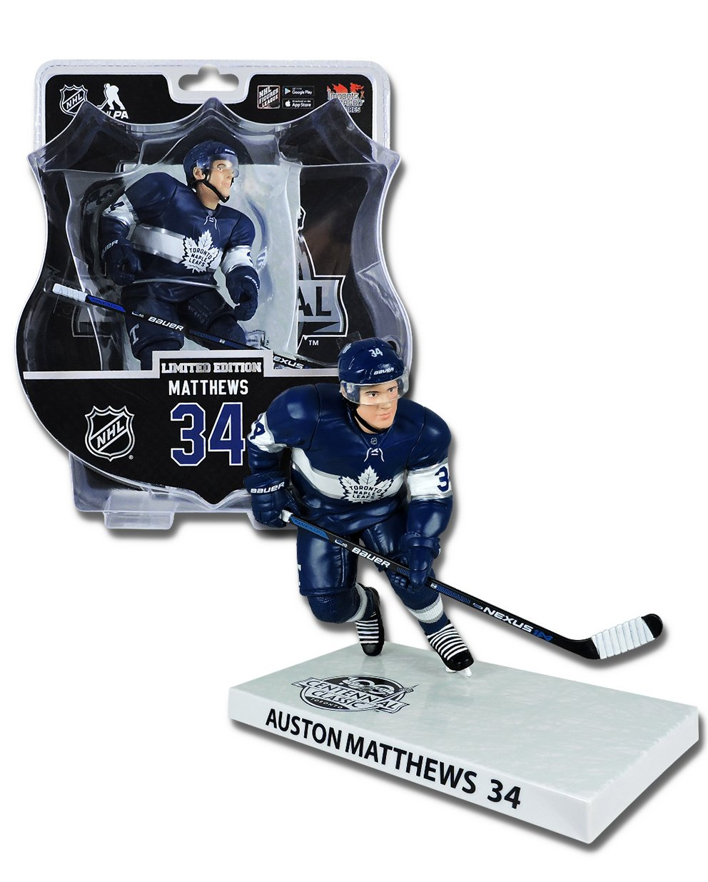 69d62393c8b Imports Dragon Auston Matthews Toronto Maple Leafs Centennial Classic NHL  Figure (16 cm)  Amazon.co.uk  Sports   Outdoors