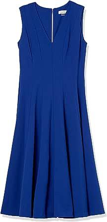 Calvin Klein Women's Sleeveless A Line Midi Dress with V Neckline