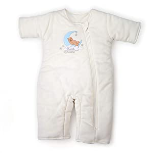 Tranquilo Baby Sleepsuit - Transitional Swaddle Product - Doubles as a Wearable Blanket - for Boys or Girls - Cotton - Cream Colored, Ages: 6-9 Months