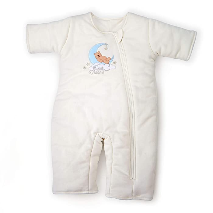 Tranquilo Baby Sleepsuit - Transitional Swaddle Product - for Boys or Girls - Cotton - Cream Colored, Ages: 3-6 Months