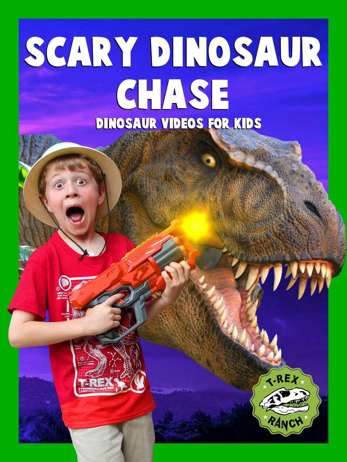 T-Rex Ranch - Scary Dinosaur Chase - Dinosaur Videos for Kids