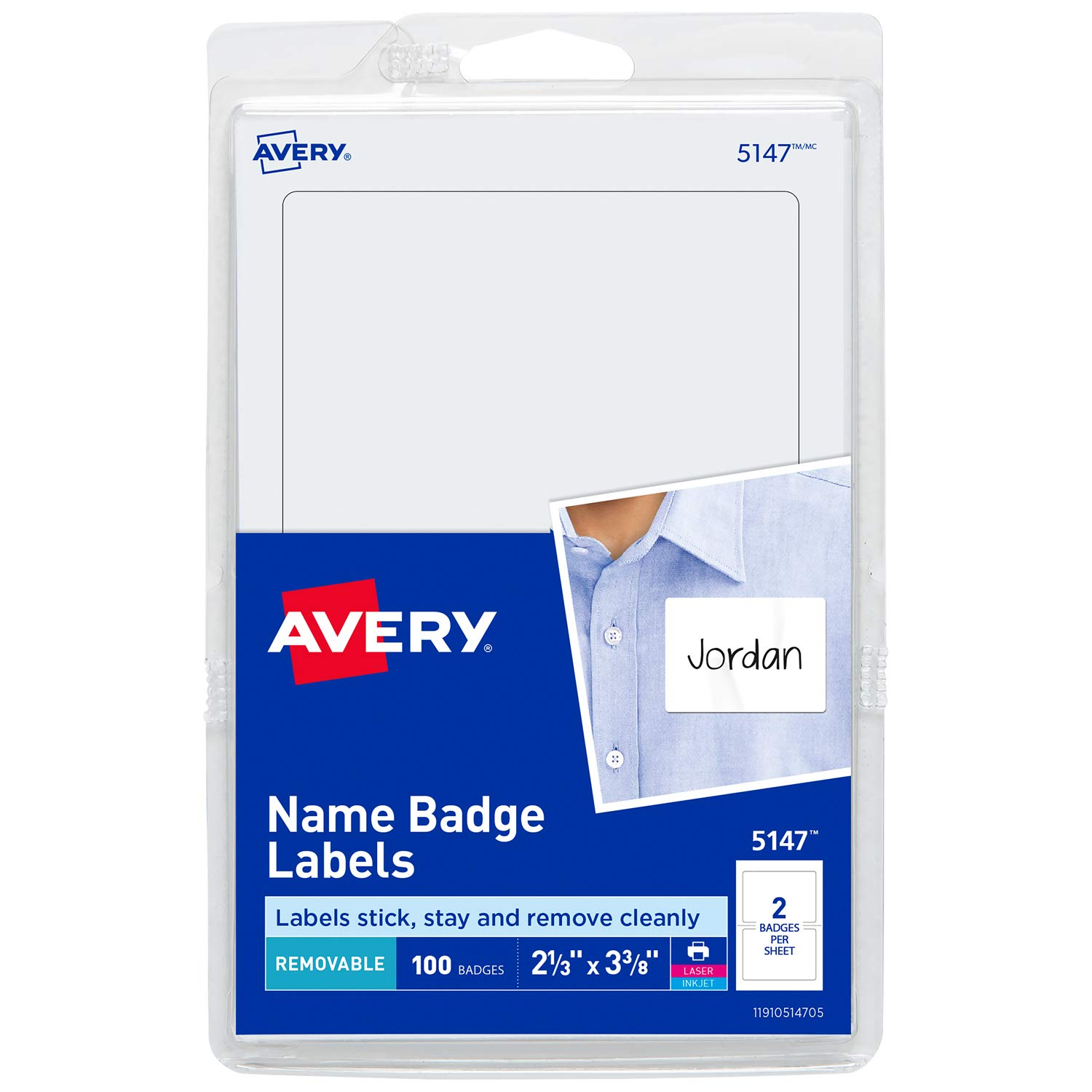 Amazon Avery Personalized Name Tags Print Or Write 2 13 X