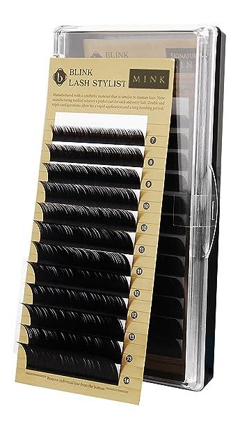 8f30b90aade Amazon.com : Blink Mink Tray Eyelash Extension Lashes C*0.15*MIXED* 7-14MM  : Beauty
