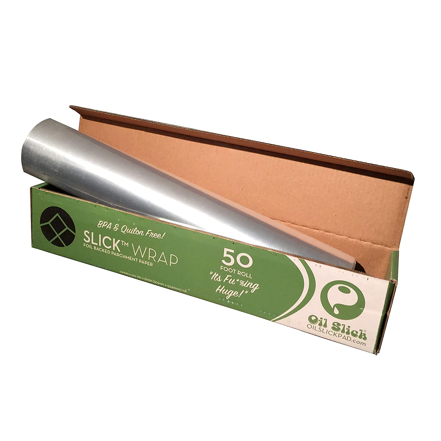 Oil Slick Wrap Foil Backed Parchment Paper 12x600 Alternative to Martha Wrap or Reynolds Pan Lining