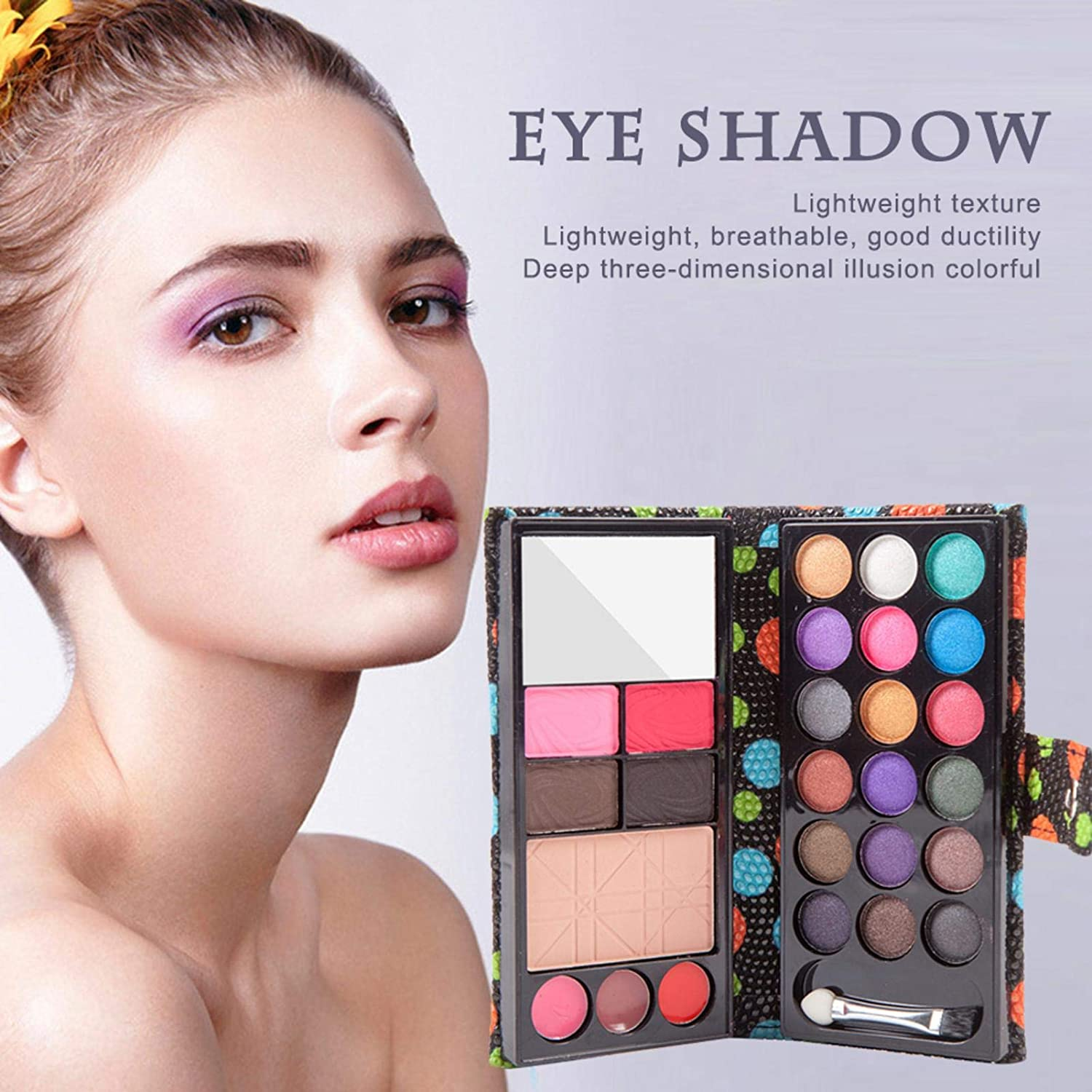 Companion Eyeshadow Palette, 18 Color Matte Natural and Long-Lasting Eye Shadow Makeup Set for Women