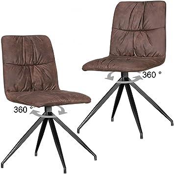 Juego de 2 sillas de Comedor de diseño Herry en diseño Retro ...