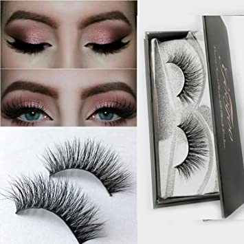 61ef246cebf Amazon.com : Googoo 3D Mink Fake Eyelashes 100% Siberian Mink Fur Hand-made  False Lashes for makeup 1 Pair : Beauty
