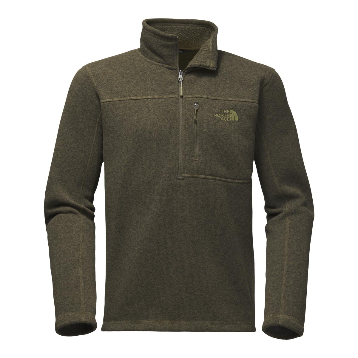 The North Face Men's Gordon Lyons 1/4 Zip - New Taupe Green Heather - 3XL (Past Season) by The North Face