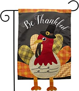 "Briarwood Lane Colorful Turkey Thanksgiving Applique Garden Flag 12.5"" x 18"""