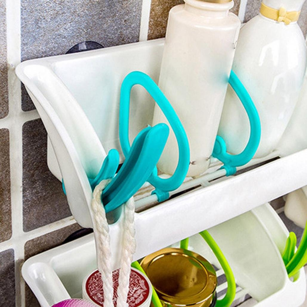 Amazon.com: Binmer(TM) Home Bathroom Plastic Shower Storage Rack ...