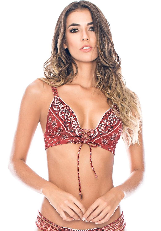 Agua Bendita Womens Bendito Strawberries Bikini Top