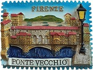 Fridge Magnet Ponte Vecchio Firenze Italy 3D Resin Handmade Craft Tourist Travel City Souvenir Collection Letter Refrigerator Sticker
