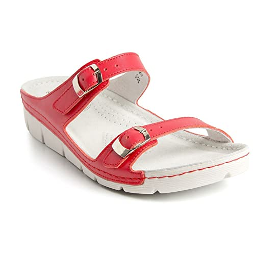 c435ee91ad92 Batz Garda Light and Flexible Handmade High Quality Leather Slip-on Womens  Ladies Sandals Mule Clogs Slippers Shoes  Amazon.co.uk  Shoes   Bags