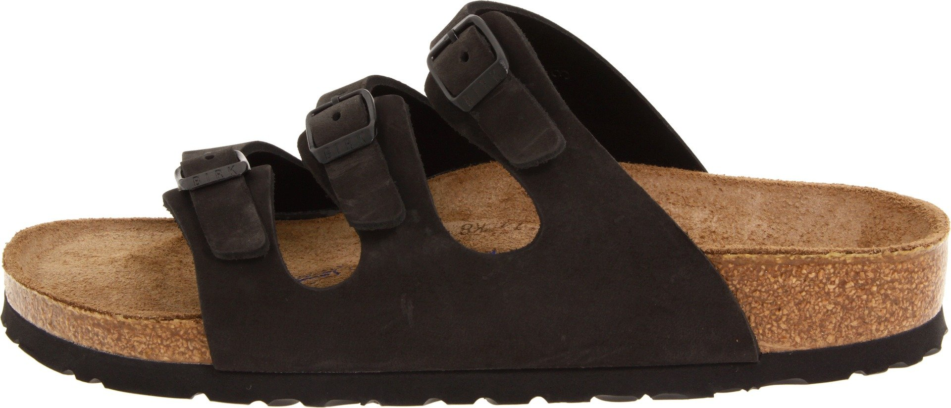 Birkenstock Women's Florida Soft Footbed Birko-Flor  Black Nubuck Sandals - 37 M EU / 6-6.5 B(M) US by Birkenstock (Image #5)