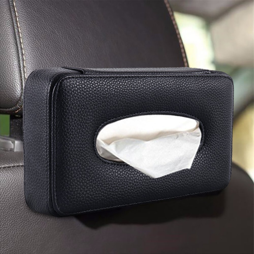 Scorpiuse Leather Car Tissue Holder Back Seat Headrest Paper Hanging Case for Car /& Truck Decoration