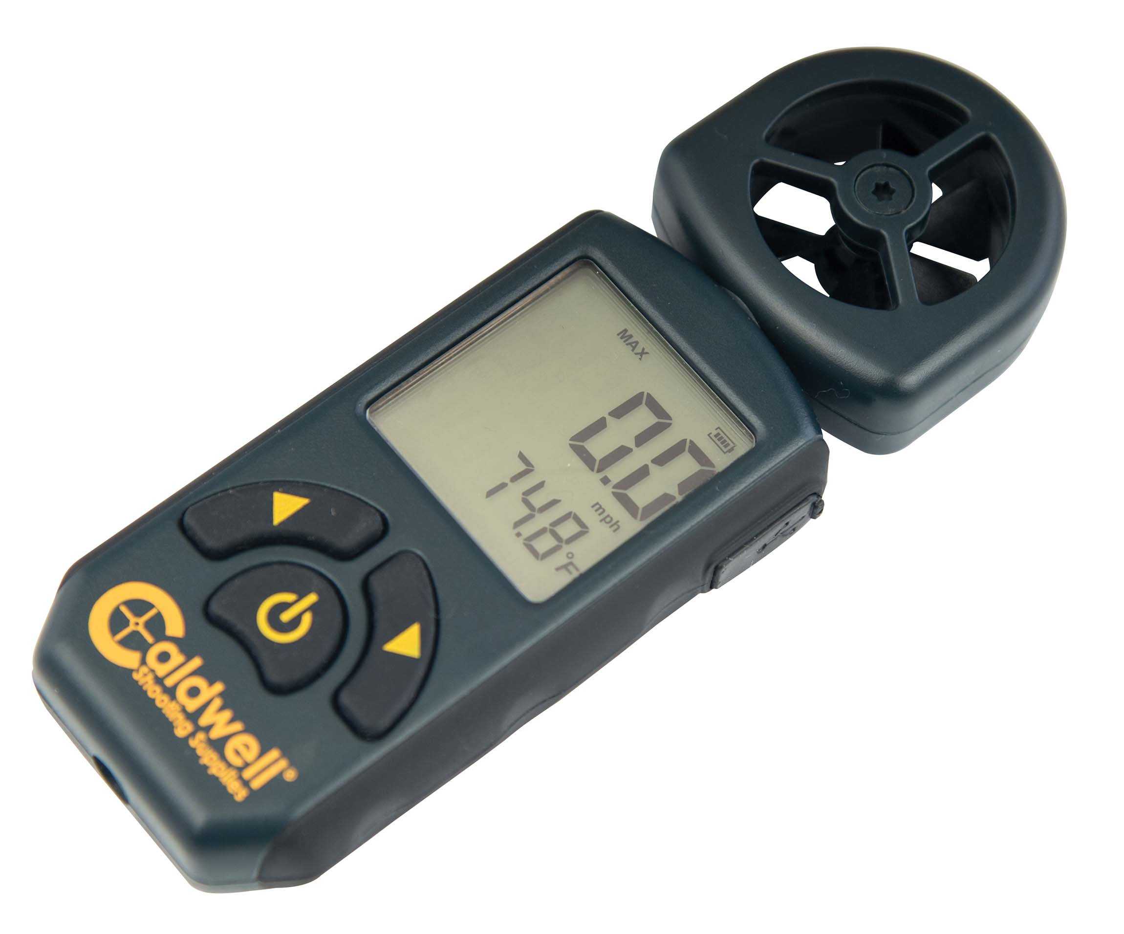 Caldwell Cross Wind Professional Wind Meter with Multiple Wind Readings, LCD Backlight and Lanyard for Long Range, Shooting and Hunting by Caldwell