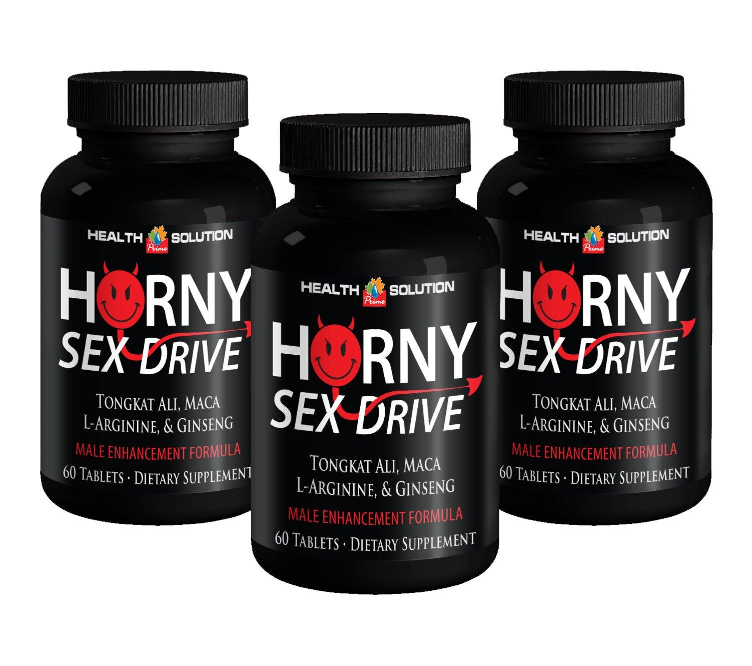 Natural libido booster for men - HORNY SEX DRIVE - Tribulus terrestris - 3 Bottles 180 Tablets