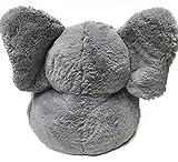 """18"""" PLUSH CHAIR W/ CORDUROY TRIM-GREY ELEPHANT"""