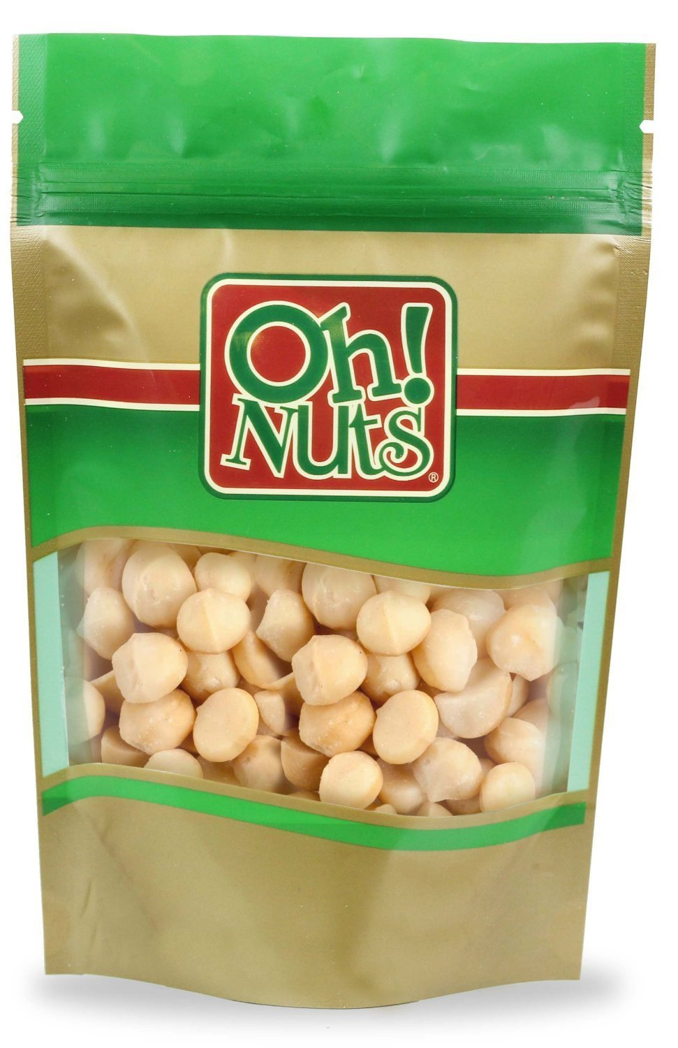 Raw Hawaiian Macadamia Nuts (5 Pound Bag) - Oh! Nuts by Oh! Nuts® (Image #1)