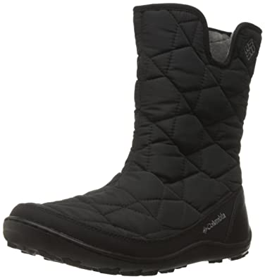 Columbia Women's Minx Slip II Omni-Heat Snow Boot, Black/Quarry, 5