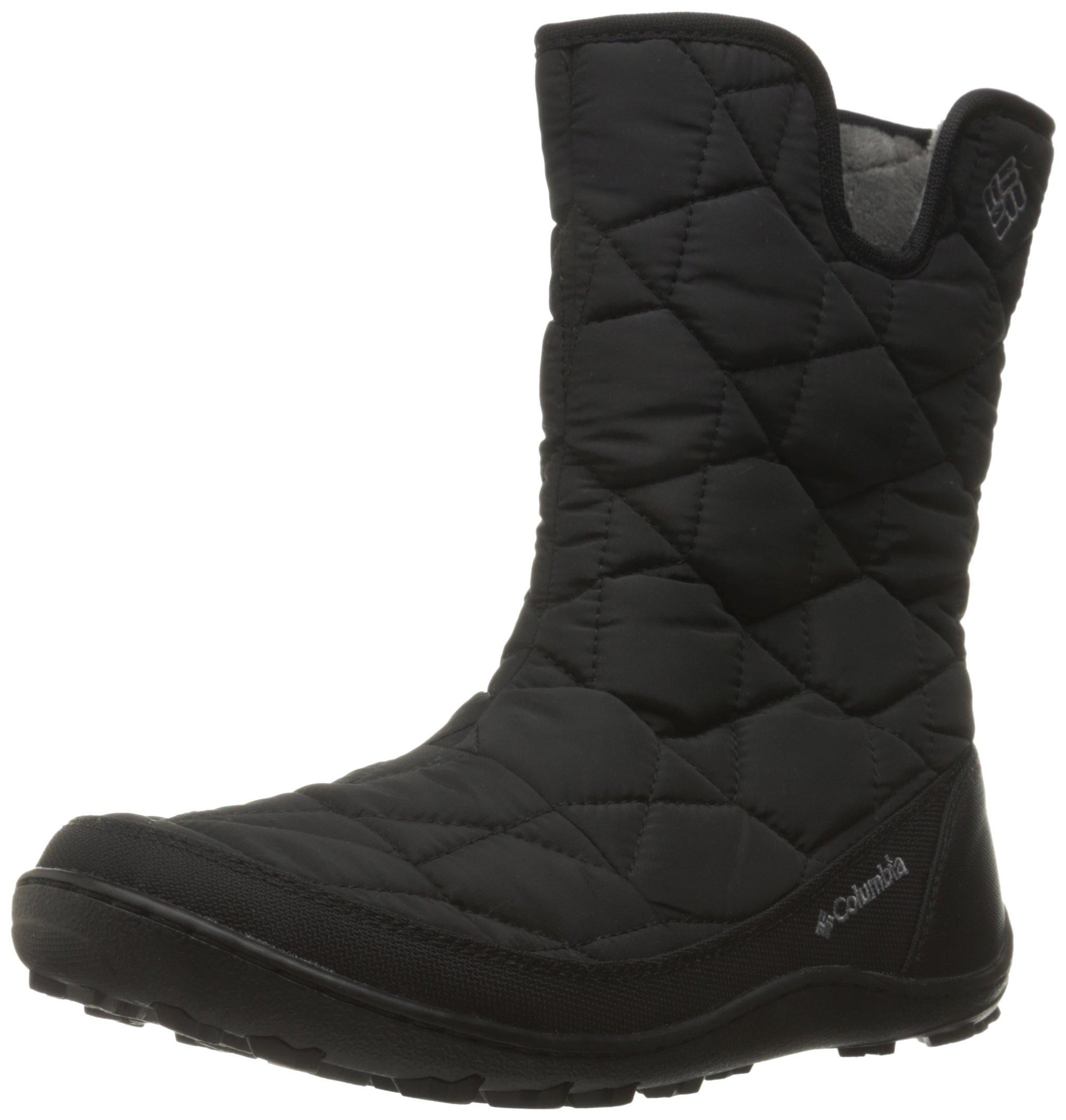 Columbia Women's Minx Slip II Omni-Heat Snow Boot, Black/Quarry, 8.5 B US