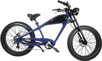 CIVI BIKES Vintage Bicicleta Eléctrica Fat Tire Sport Bicicleta 750W Café Racer 7-Speed Gear 48V 13AH Batería con MAX Velocidad a 28MPH: Amazon.es: Deportes y aire libre