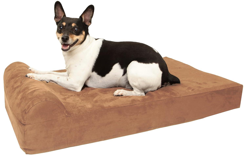 amazoncom  barker junior   pillow top orthopedic dog bed with  - amazoncom  barker junior   pillow top orthopedic dog bed with headrestfor small dogs    pounds  pet beds  pet supplies