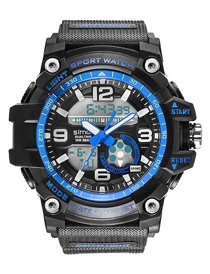 Relojes para hombres Reloj analógico digital de cuarzo para niños Reloj militar impermeable para hombre y