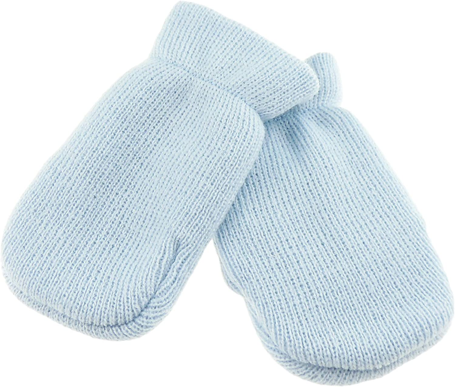 6 mesi blu Blue taglia unica Baby Girls Boys Block Colour Warm Winter Gathered foderato fine Knit Mittens neonato