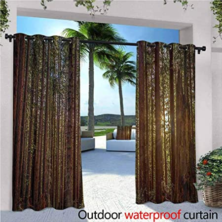 Amazon Com California Tree Nature Outdoor Curtain Panel For Patio Redwood Forest In California And Sunset Picture Print Waterproof Patio Door Panel 120x96 Inch Green And Brown Garden Outdoor