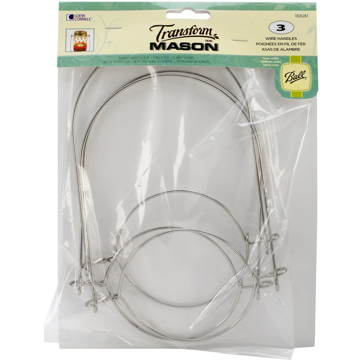 Amazon.com: Loew-Cornell Mason Ball Jar Wire Handles (Handle-Ease ...