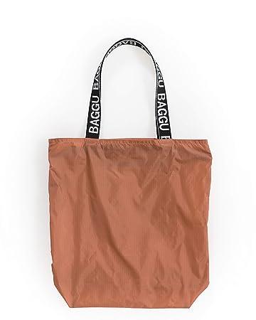 bc2be850f73f Amazon.com   BAGGU Ripstop Tote, Super Versatile Lightweight Nylon ...