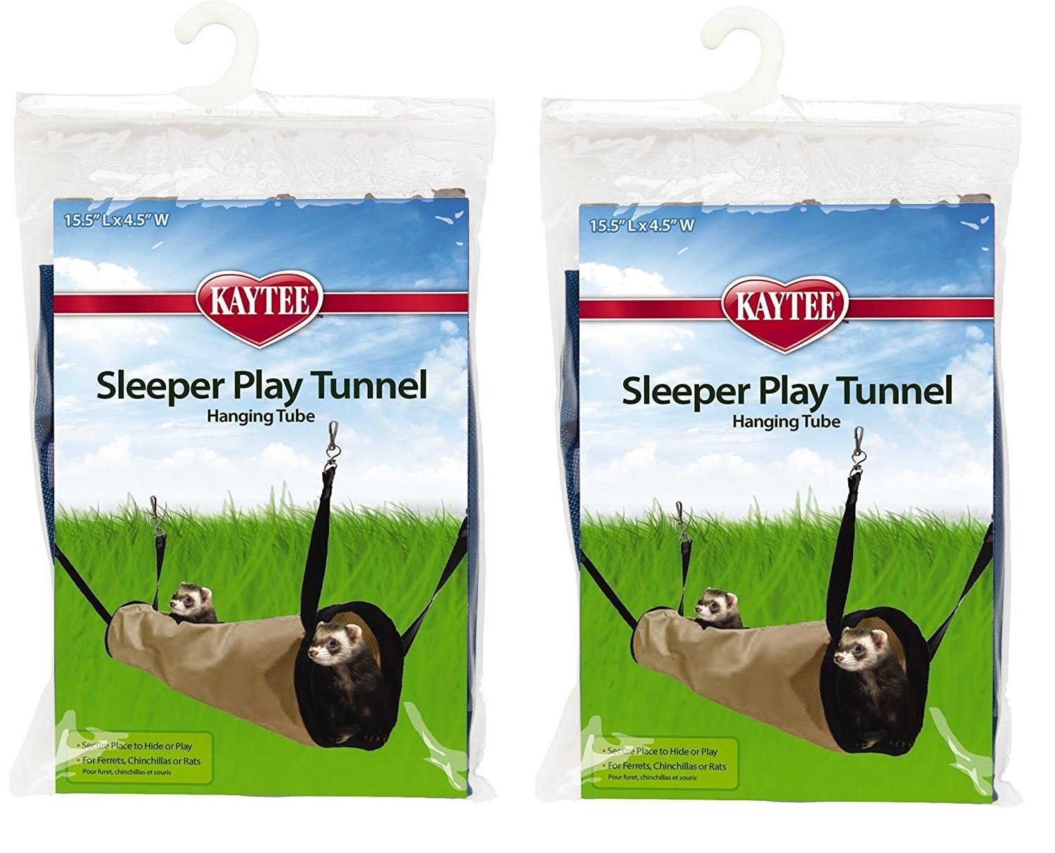 (2 Pack) Kaytee Simple Sleeper Play Tunnel, Colors Vary Super Pet