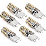 LEDGLE G9 LED Light Bulbs, 6pcs 3W (30W Halogen Equivalent), 250LM,Warm White (3000K), G9 Base, G9 Warm White Bulbs for Home Lighting