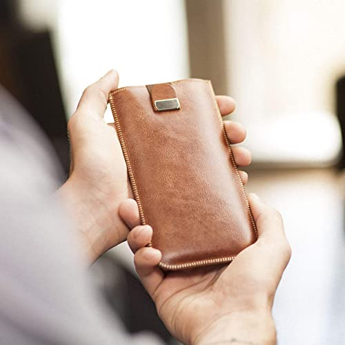 Funda de cuero para iPhone 11, iPhone XR caja, bolsa case, cover estuche de manga: Amazon.es: Handmade