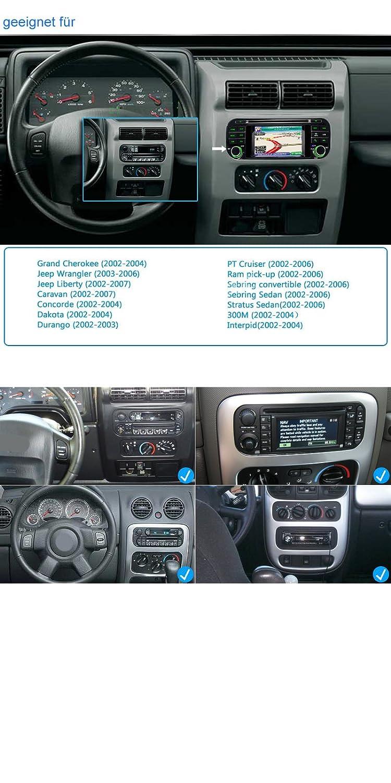 A de Sure Auto Radio DVD GPS para Jeep Grand Cherokee Liberty Wrangler Caravan interpid Dakota vcgcq: Amazon.es: Electrónica