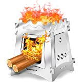 VODA Camping Wood Stove Burner for Outdoor Camping Hiking Cooking Outside Light Weight Portable Backpacking Stainless…