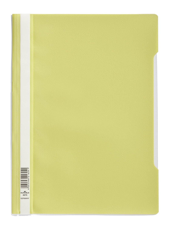A4 polipropileno, 227 x 310 mm, lote de 50 unidades color verde Durable 257317 Carpeta de fastener