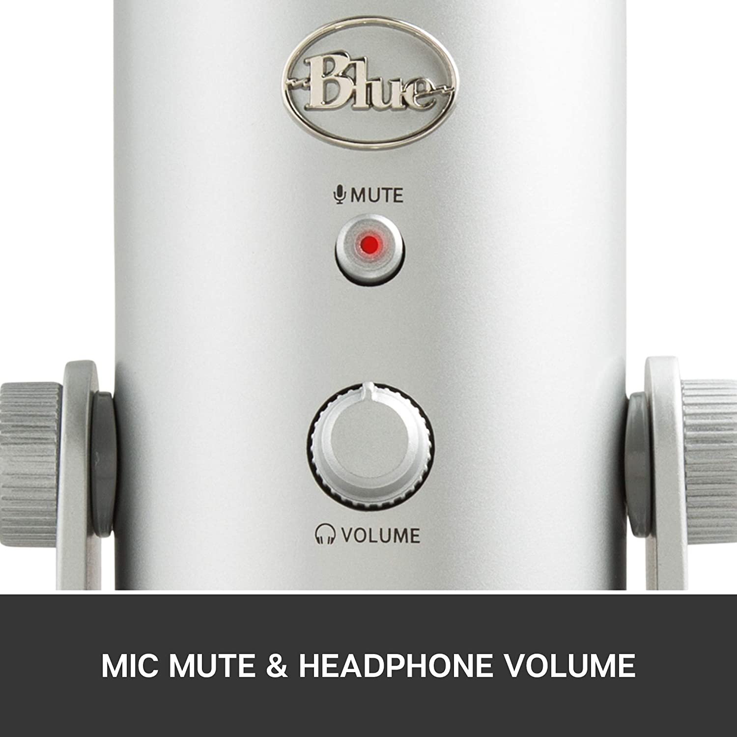 Blue Yeti USB Mic for Recording & Streaming on PC and Mac, 3 Condenser Capsules, 4 Pickup Patterns, Headphone Output and Volume Control, Mic Gain Control, Adjustable Stand, Plug & Play - Silver: Musical Instruments
