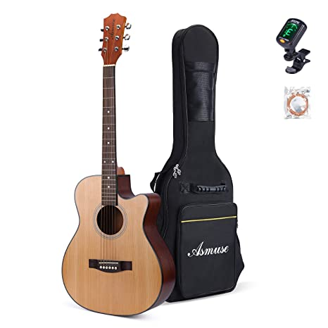 Dreadnought Westerngitarre Stahlsaiten Akustik Gitarre Einsteigergitarre pink