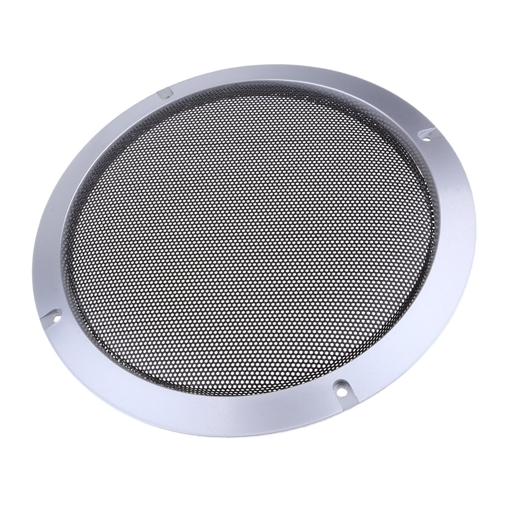 MagiDeal 8 Inch Speaker Grills Cover Case with 4 pcs Screws for Speaker Mounting Home Audio DIY 225mm Outer Diameter Silver