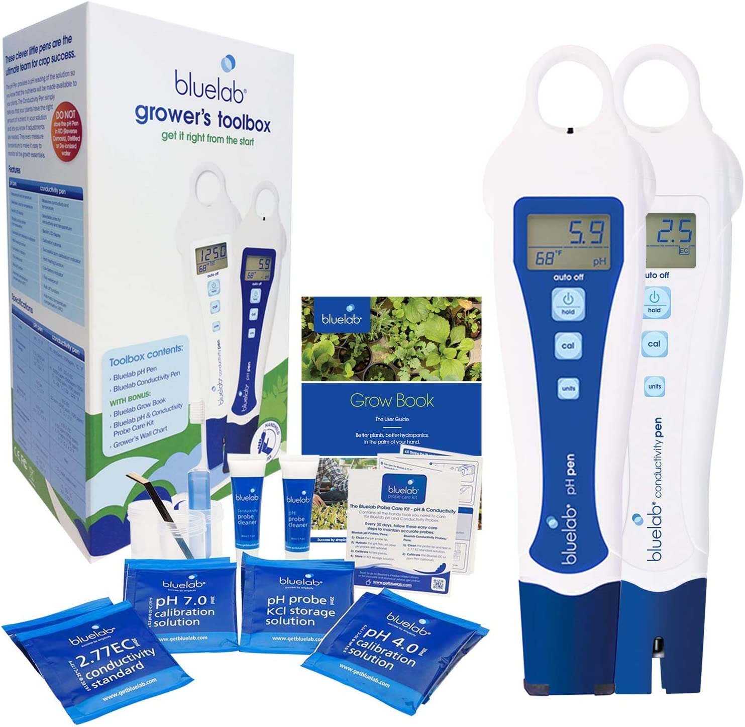 Bluelab PENGTB Grower's Toolbox with pH Pen, Conductivity Pen and Probe Care Kits