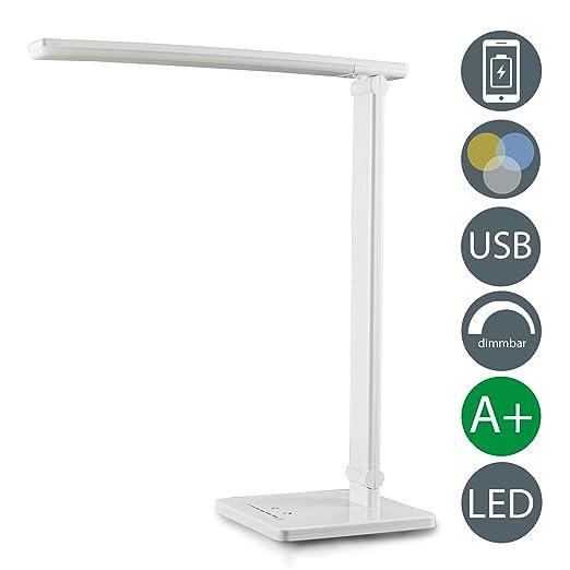 6 opinioni per Lampada da tavolo LED con USB, da scrivania, comodino, salotto, lettura,